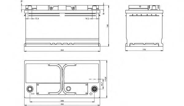 OPEN PARTS BT100L530 Стартерная аккумуляторная батарея