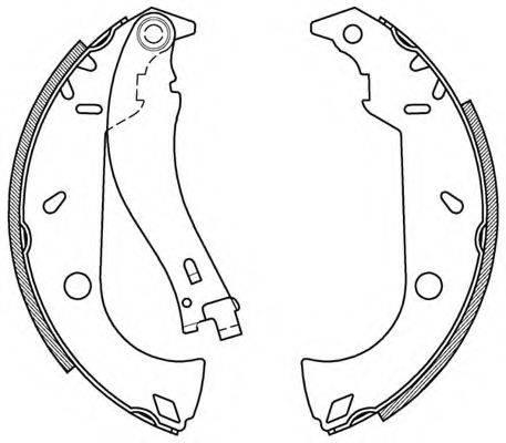 OPEN PARTS BSA209500 Комплект тормозных колодок