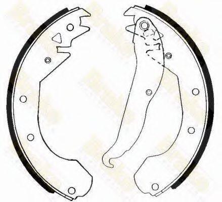 BRAKE ENGINEERING SH2211 Комплект тормозных колодок