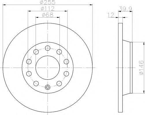TEXTAR 92106303 Тормозной диск