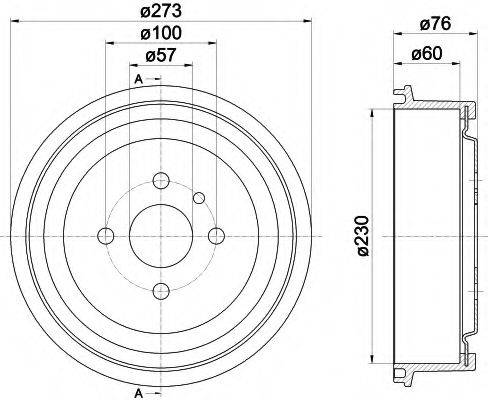TEXTAR 94003700 Тормозной барабан