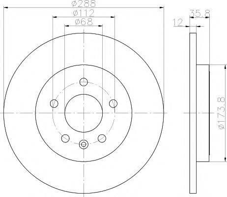 TEXTAR 92137003 Тормозной диск