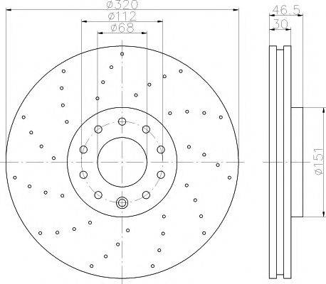 TEXTAR 92158305 Тормозной диск
