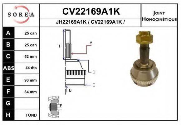 EAI CV22169A1K Шарнирный комплект, приводной вал