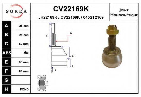 EAI CV22169K Шарнирный комплект, приводной вал