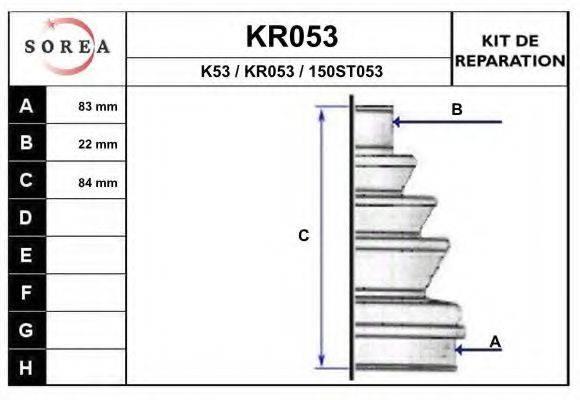 EAI KR053 Комплект пылника, приводной вал