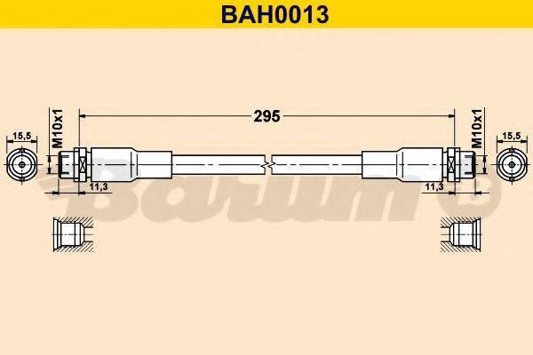 BARUM BAH0013 Тормозной шланг