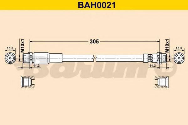BARUM BAH0021 Тормозной шланг