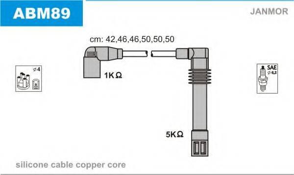 JANMOR ABM89 Комплект проводов зажигания