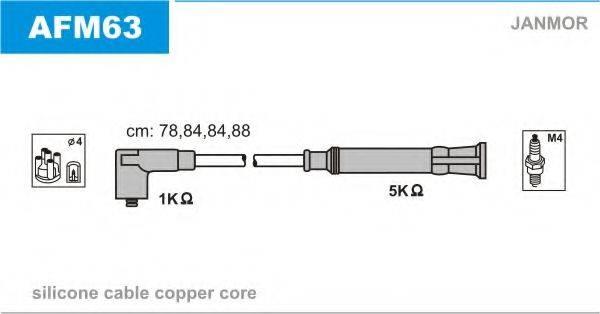 JANMOR AFM63 Комплект проводов зажигания
