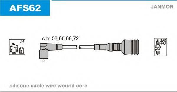 JANMOR AFS62 Комплект проводов зажигания