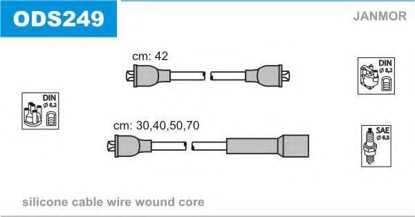 JANMOR ODS249 Комплект проводов зажигания