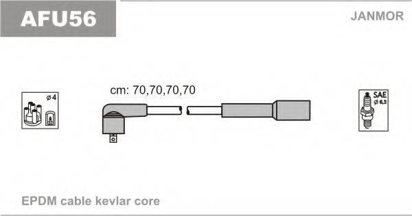 JANMOR AFU56 Комплект проводов зажигания