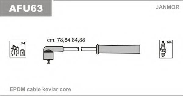 JANMOR AFU63 Комплект проводов зажигания