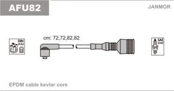 JANMOR AFU82 Комплект проводов зажигания