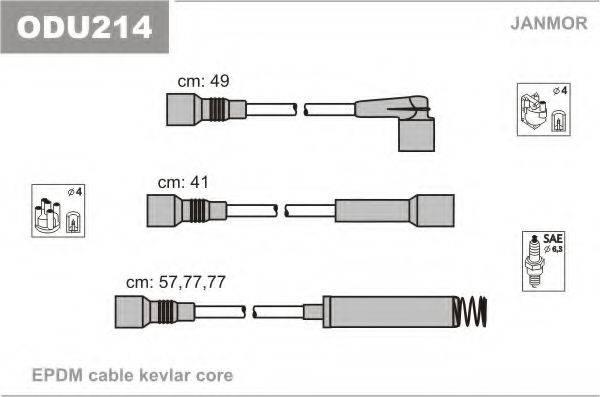 JANMOR ODU214 Комплект проводов зажигания