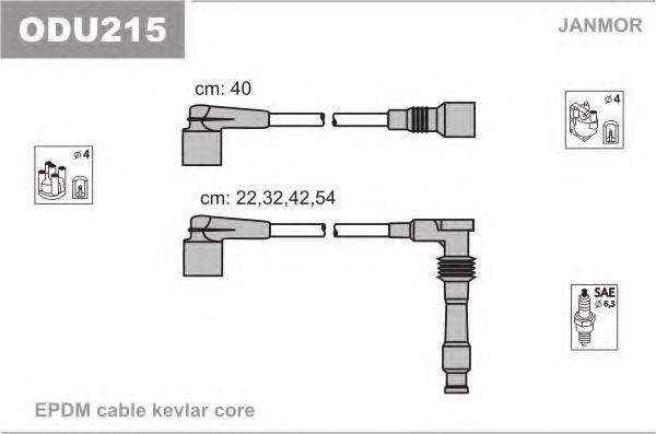 JANMOR ODU215 Комплект проводов зажигания