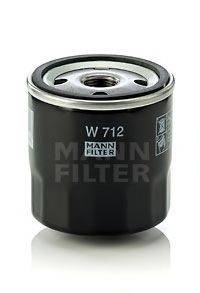 MANN-FILTER W712 Масляный фильтр; Фильтр, Гидравлическая система привода рабочего оборудования; Фильтр, система вентиляции картера