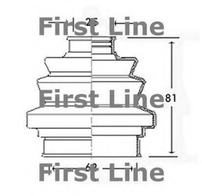 FIRST LINE FCB2196 Пыльник, приводной вал