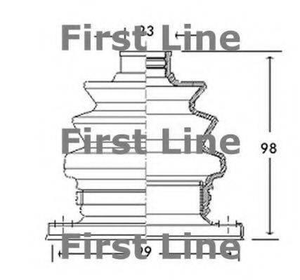 FIRST LINE FCB2766 Пыльник, приводной вал