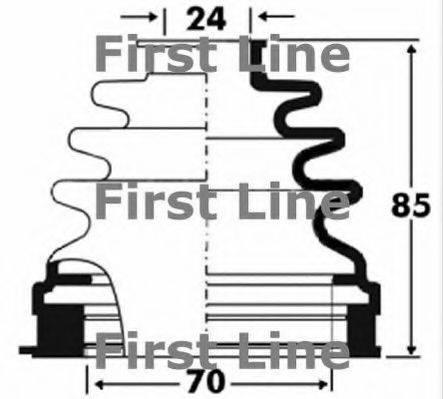 FIRST LINE FCB2881 Пыльник, приводной вал