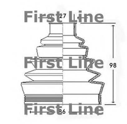 FIRST LINE FCB2304 Пыльник, приводной вал