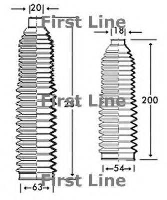 FIRST LINE FSG3220 Пыльник, рулевое управление