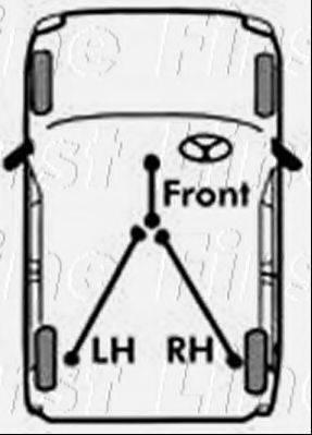 FIRST LINE FKB1066 Трос, стояночная тормозная система