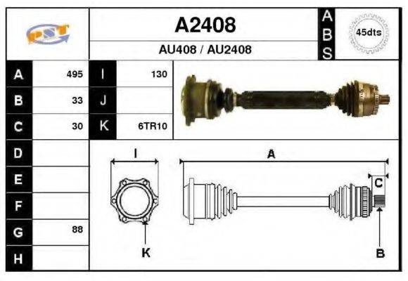 SNRA A2408 Приводной вал