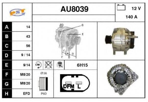 SNRA AU8039 Генератор