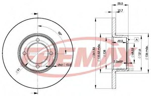 FREMAX BD0751 Тормозной диск