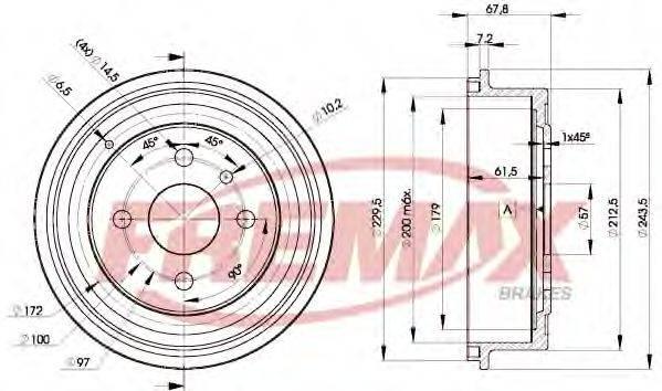 FREMAX BD8958 Тормозной барабан