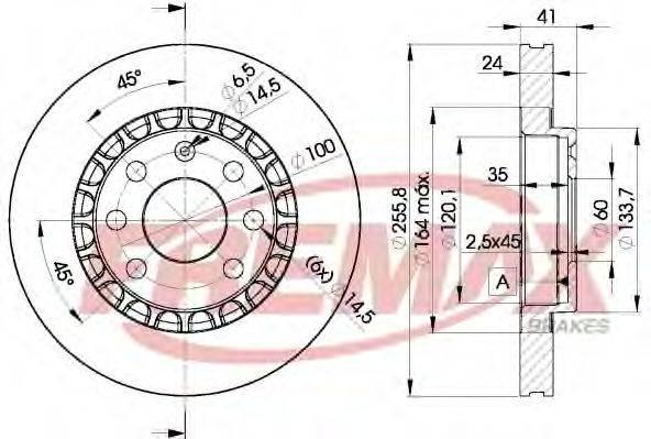 FREMAX BD9042 Тормозной диск