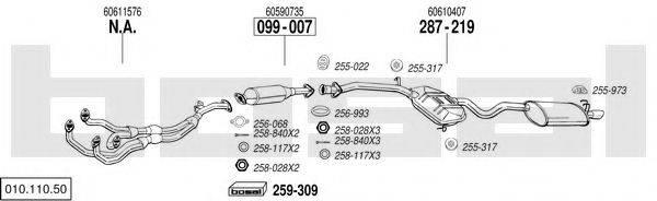 BOSAL 01011050 Система выпуска ОГ