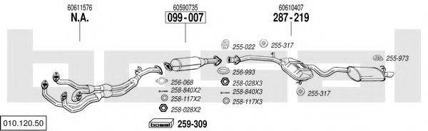 BOSAL 01012050 Система выпуска ОГ