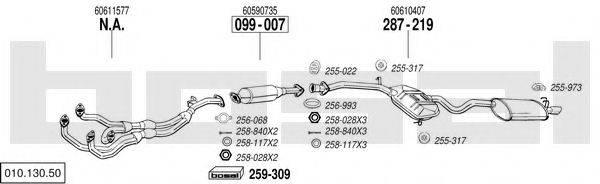 BOSAL 01013050 Система выпуска ОГ