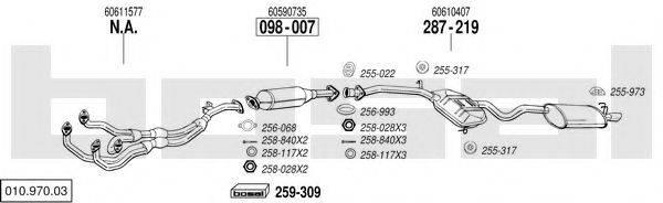 BOSAL 01097003 Система выпуска ОГ