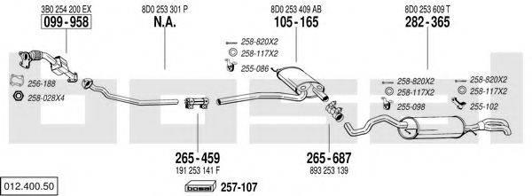 BOSAL 01240050 Система выпуска ОГ