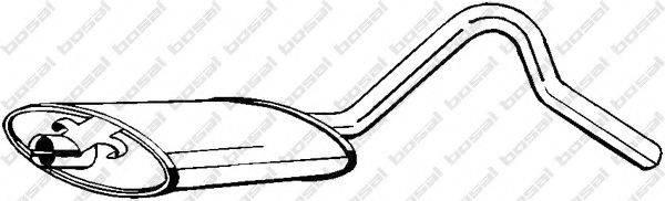 BOSAL 185731 Средний глушитель выхлопных газов