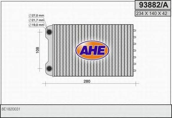 AHE 93882A Теплообменник, отопление салона
