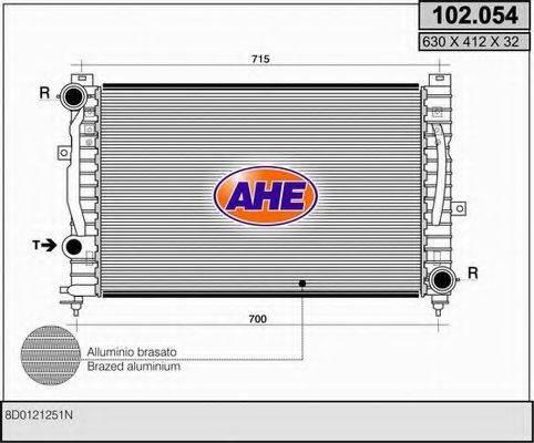 AHE 102054 Радиатор, охлаждение двигателя