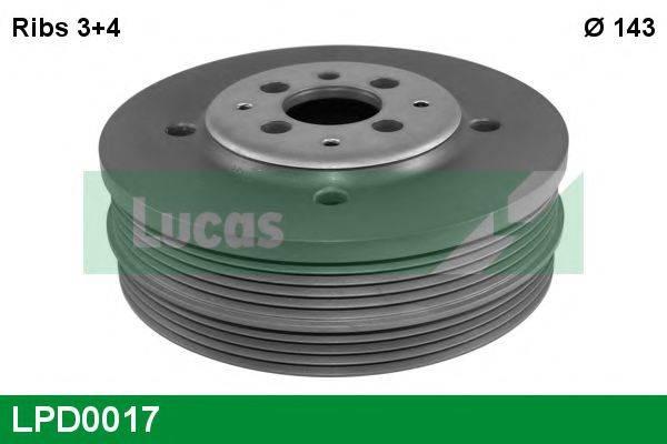 LUCAS ENGINE DRIVE LPD0017 Ременный шкив, коленчатый вал