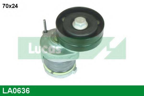 LUCAS ENGINE DRIVE LA0636 Натяжная планка, поликлиновой ремень