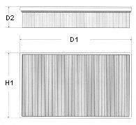 CHAMPION U678606 Воздушный фильтр