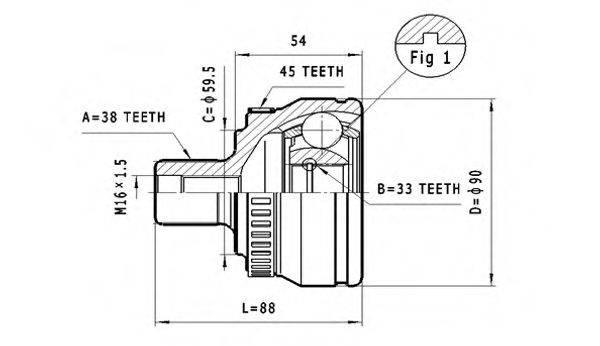 STATIM C291 Шарнирный комплект, приводной вал