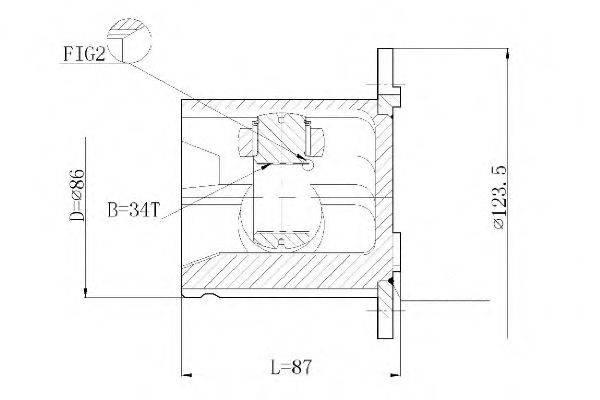 STATIM CW060 Шарнирный комплект, приводной вал