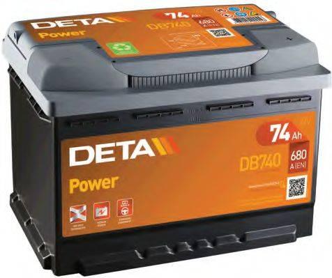 DETA DB740 Стартерная аккумуляторная батарея; Стартерная аккумуляторная батарея