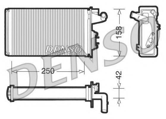 NPS DRR09010 Теплообменник, отопление салона