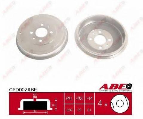 ABE C6D002ABE Тормозной барабан