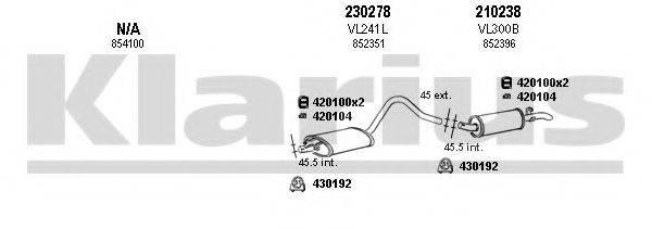 KLARIUS 390807E Система выпуска ОГ